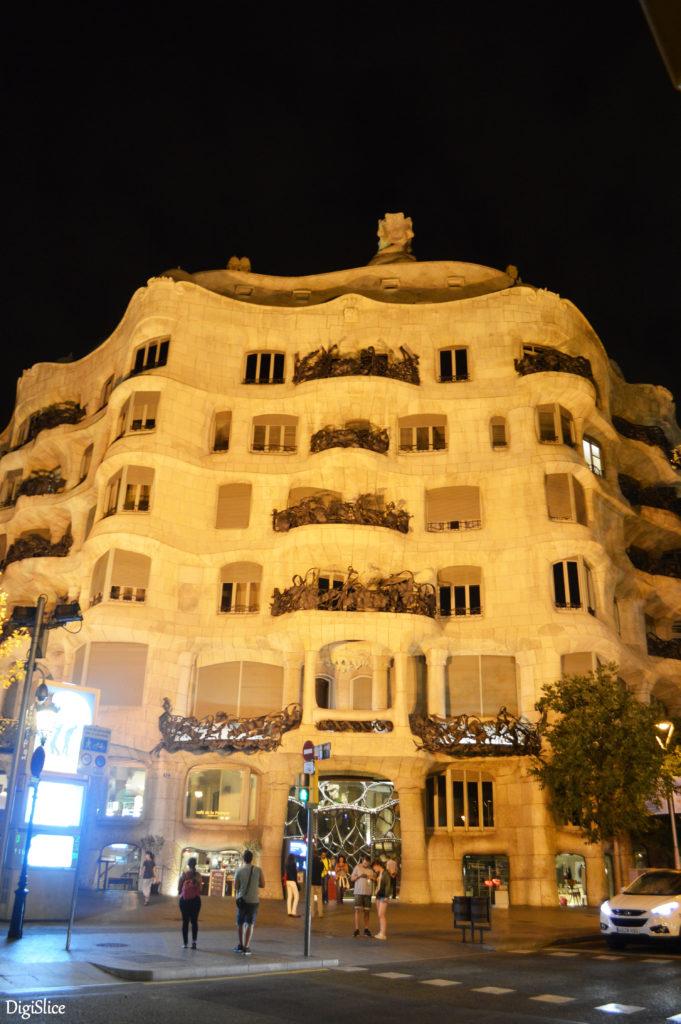 Casa Milà (La Pedrera) exterior facade - Barcelona