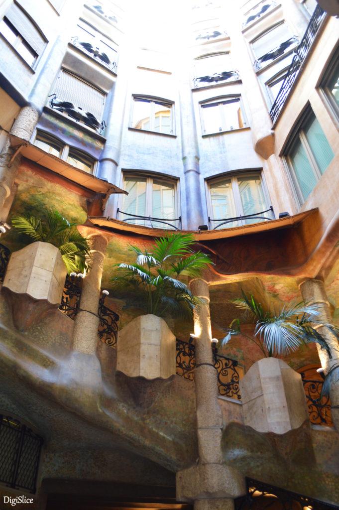 Casa Milà (La Pedrera) atrium - Barcelona