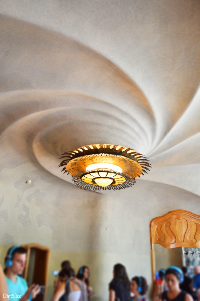 Ceiling close-up on the Noble Floor of Casa Batlló  - Barcelona