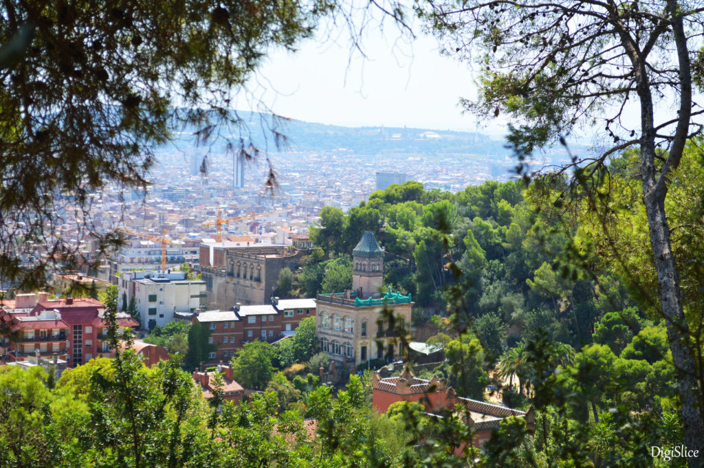 View from the top of Parc Güell, Barcelona