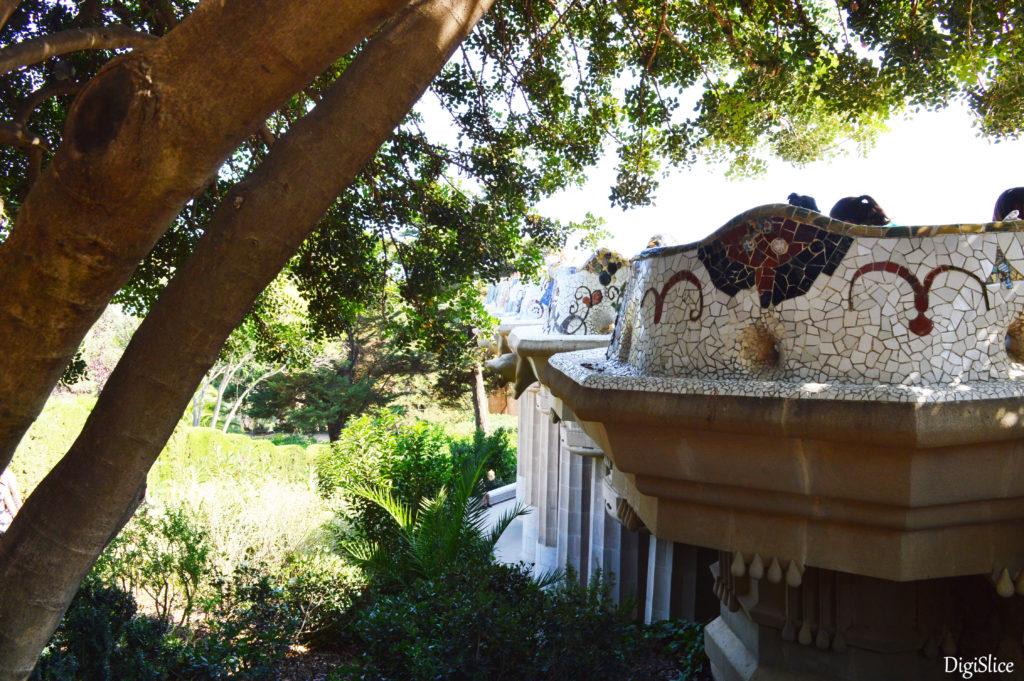 Serpentine bench, BANC DE TRACADIS in Park Guell, Barcelona