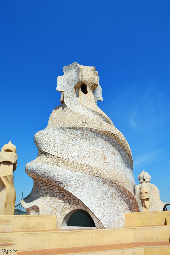 Casa Milà (La Pedrera) ventilation towers on the roof - Barcelona