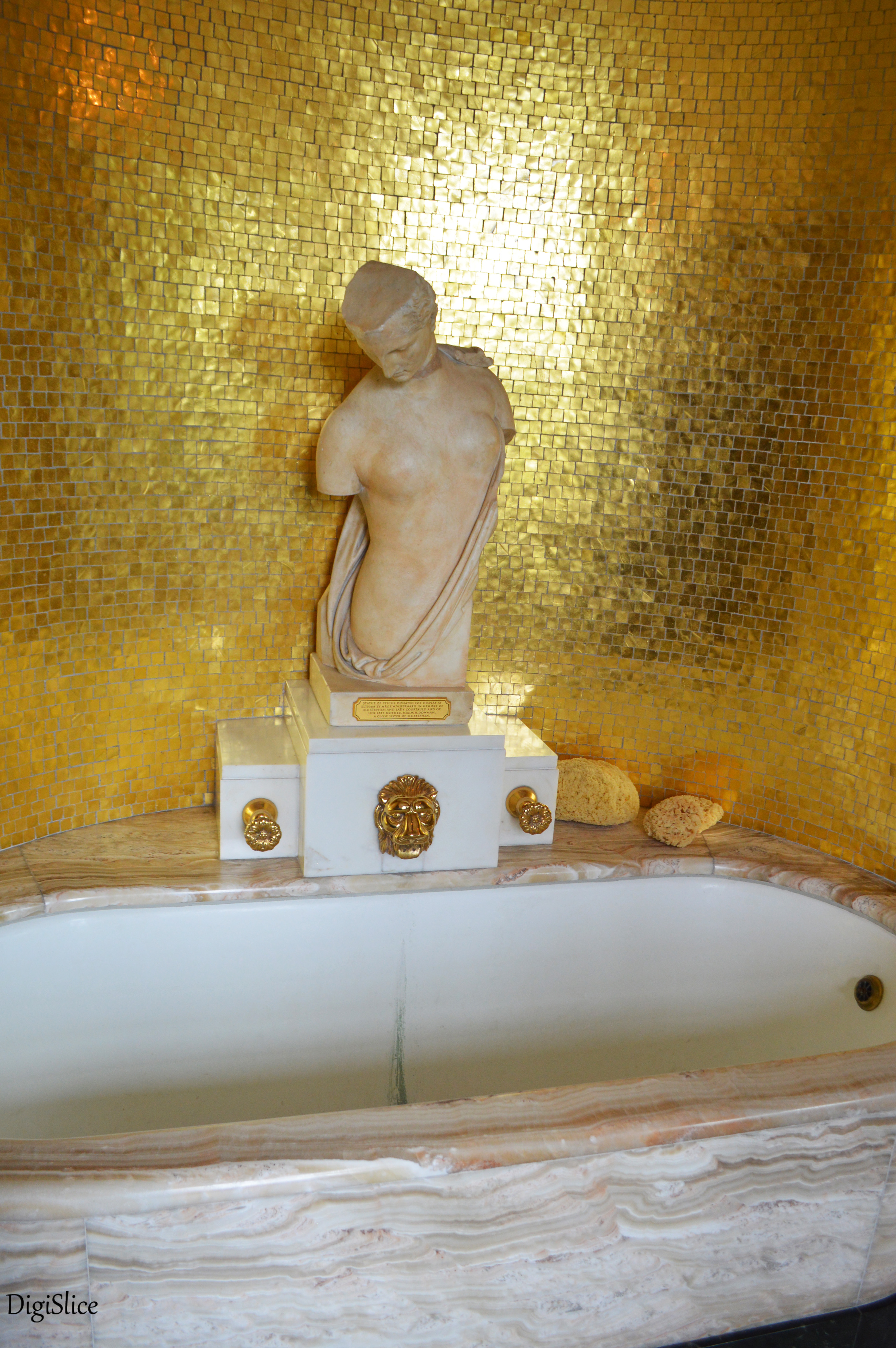 Eltham Palace Gold bathroom
